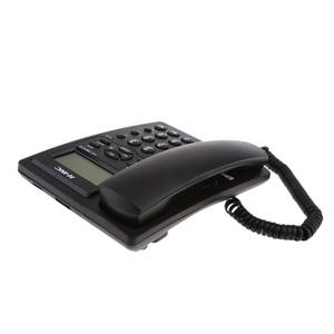 Image 3 - Landline Phone, Corded Desktop Telephone, Caller ID Display/Volume Adjustable for Home/Office Black