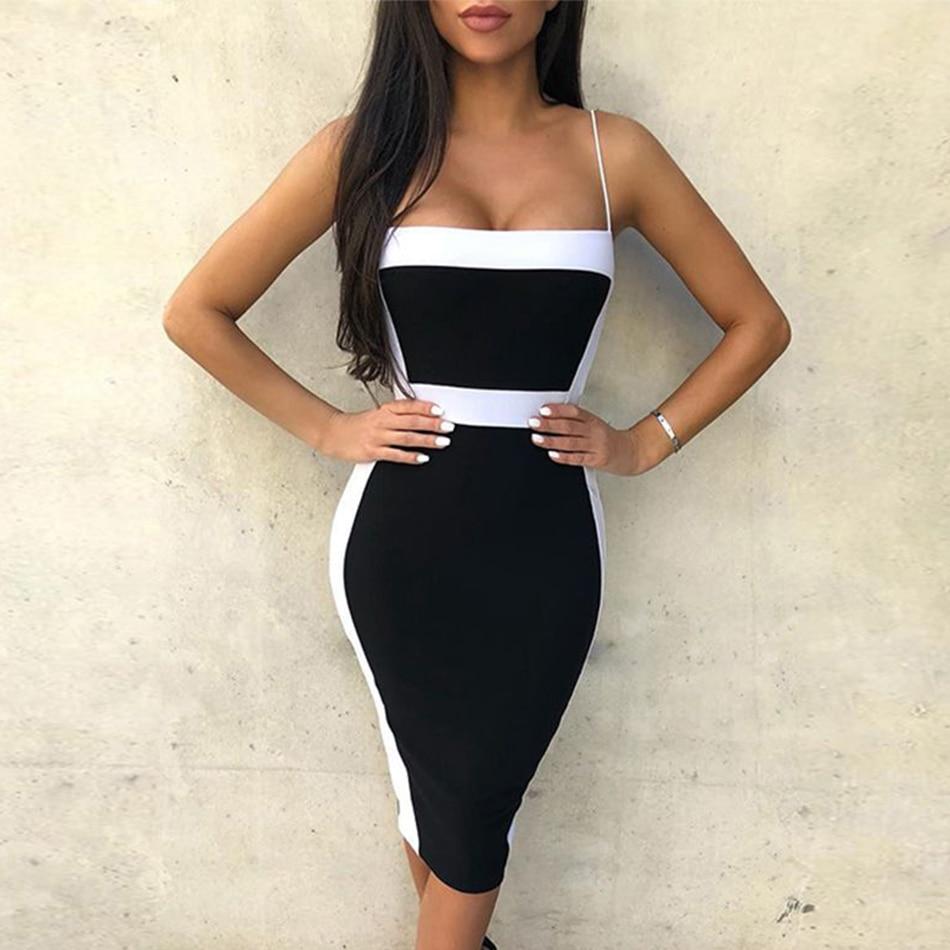 Seamyla Sexy Bandage Dresses Women 2019 New Sleeveless Celebrity Party Dress Elegant Bodycon Club Wear Summer Dress Vestidos