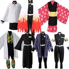 Anime kostüm iblis avcısı Cosplay Tanjirou Kamado Cosplay kostüm Kimetsu hiçbir Yaiba erkekler Kimono kostüm cadılar bayramı