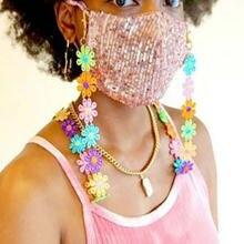 2020 шикарная модная женская маска ремешок многоцветная Цветочная