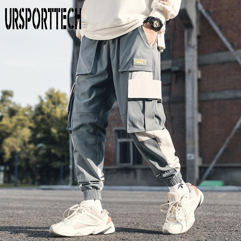 2020 New Streetwear Men's Jogger Pants Hip Hop Cargo Pants Man Big Pockets Sweatpants Big Size Tactical Harem Pants Men Trousers