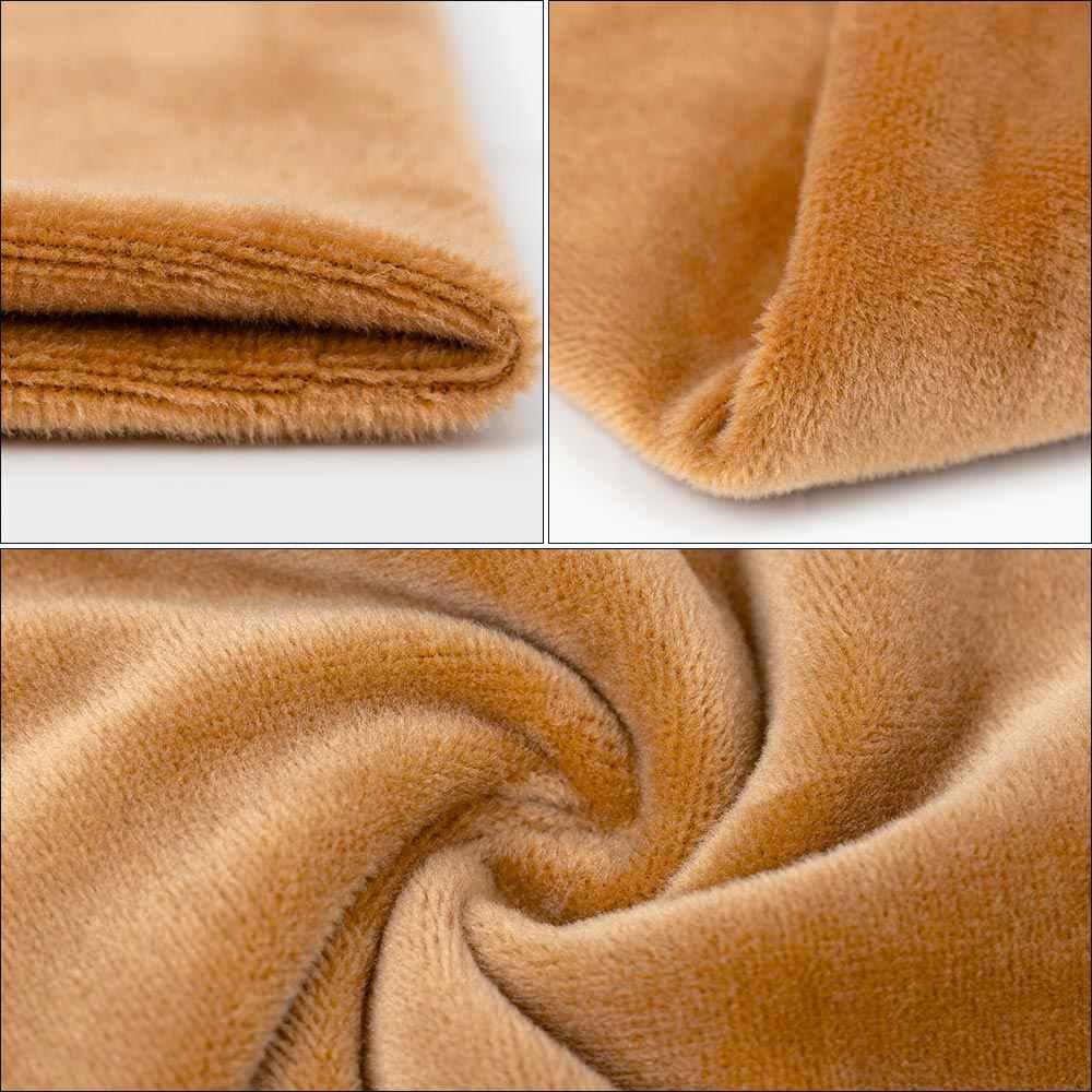 Kış kadın Premium kadife eşarp önlüğü düz renk yumuşak yaka atkılar kadın kış uzatmak sıcak boyun eşarbı