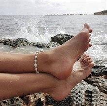 New Fashion Beach Ocean Adjustable Rope Chain Bracelet Anklet Bohemian Shell For Women