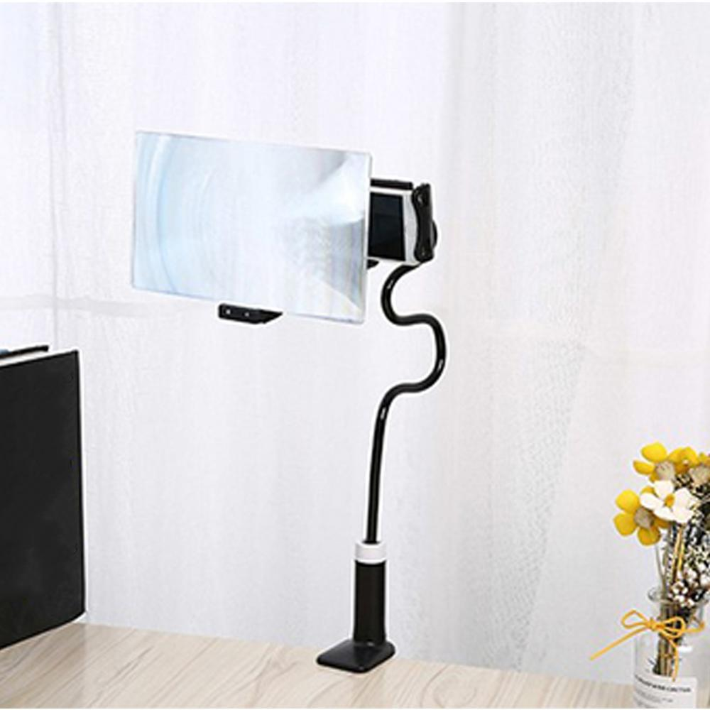 8/12 inch 3D Screen Amplifier Mobile Phone Magnifying 360 Rotating Flexible Foldable Long Arm lazy Phone Holder Desk Stand