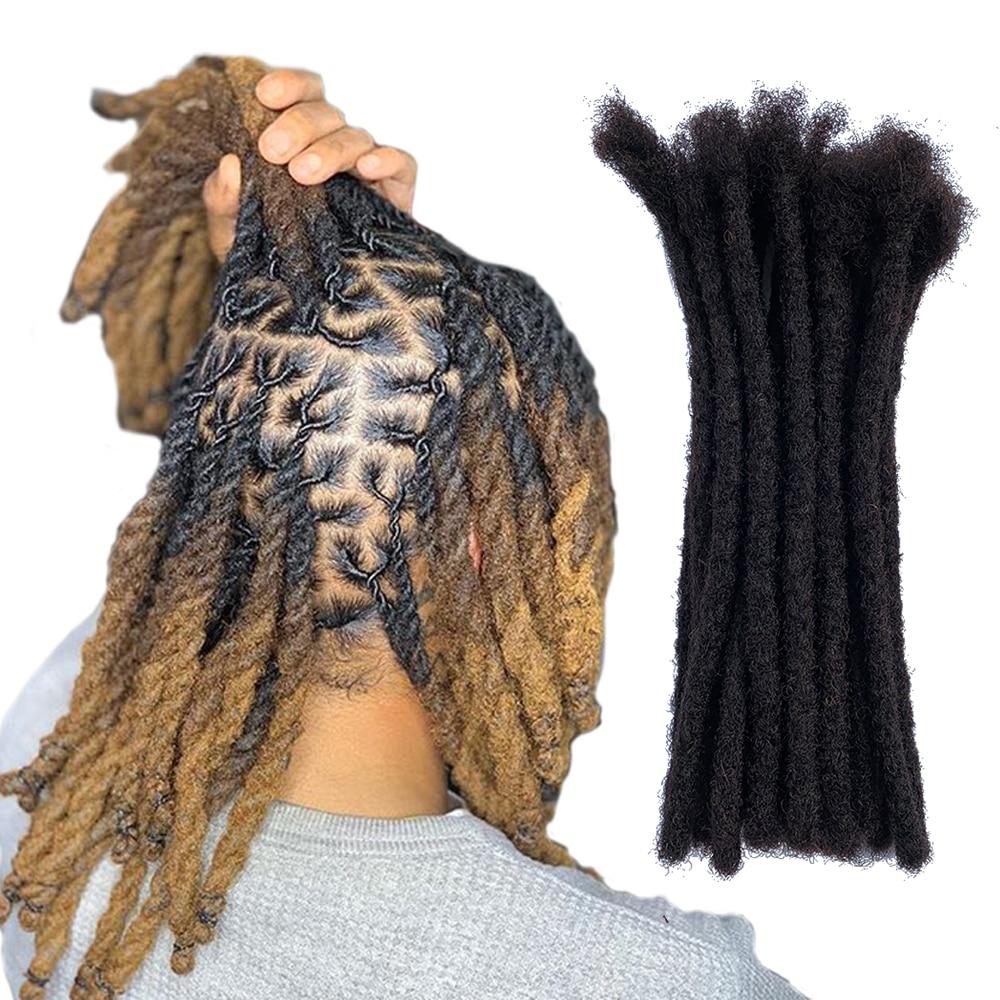 YONNA 100% Remy Human Hair Dreadlocks Extensions Medium Sized Full Handmade 0.8cm/1/3