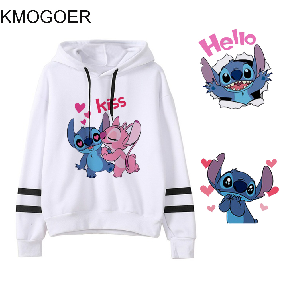 Stitch Sweatshirt Cute Anime Lilo Stitch Hoodie Ladiy Girl Pullover Kpop Women's Clothing Female Hooded Harajuku Women Hoodies