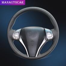 Car Braid On The Steering Wheel Cover for Nissan Teana 2013-2018 Altima 2013-2018 X-Trail 2014-2017 Qashqai 2014-2017 Rogue Auto