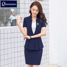 Short sleeved professional wear women s summer new fashion temperament thin dress suit beautician overalls