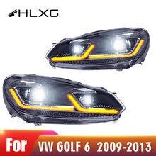 Pièces et accessoires de voiture pour VW Golf 6 2009 – 2013, phare de voiture, assemblage, DRL Hid, dynamique Bi Xenon