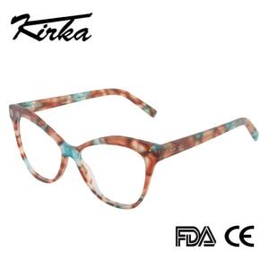 Image 2 - Kirka Women Optical Glasses Frame Cat Eye Eyeglasses Frame Reading Glasses Eyewear Accessories Women Eyewear Frame Myopia