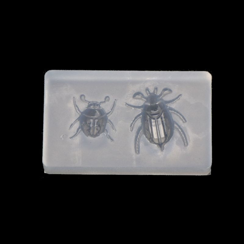 Cute Ladybug Beetle Pendant Insect Resin Silicone Mold Jewelry Making Tools Silicone Mold For Resin