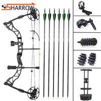 Outdoor Hunting Compound Bow Shooting Competition 30 70lbs Alloy Pully Bow Set With Bow Sight Arrow Rest For Archery Training