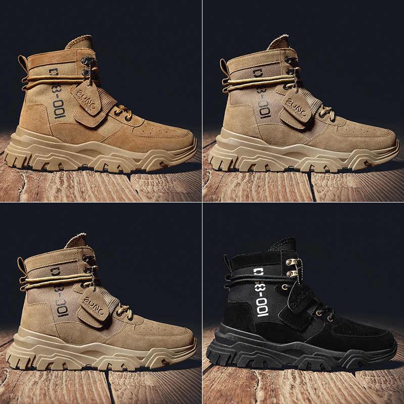 Vast WAVE Suede Army BOOT ผ้าใบผู้ชายรองเท้าชายรองเท้าความปลอดภัยรถจักรยานยนต์รองเท้า COMBAT Mens ทหารข้อเท้า BOOT ยุทธวิธี