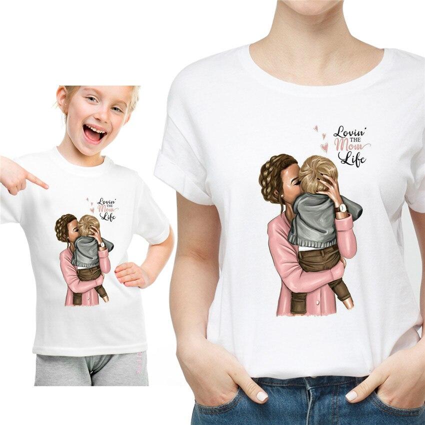 Новая семейная футболка с принтом Одежда «Мама и я» Семейные комплекты с короткими рукавами QT-1924 - Цвет: Серый