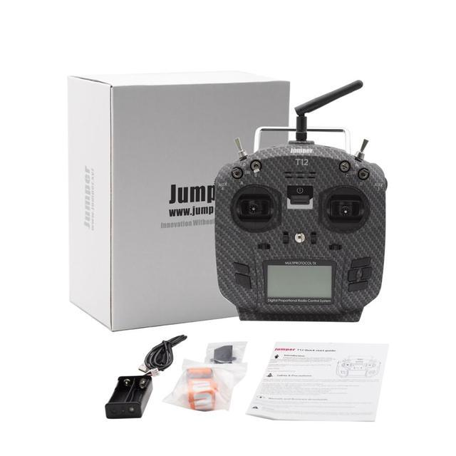 Jumper T12 Pro OpenTX 12ch Sensor de alta sensibilidad Gimbal transmisor de Radio con JP4 in 1 Módulo de radiofrecuencia multiprotocolo