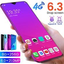 Teléfono móvil con pantalla grande de 6,3 pulgadas, Smartphone con cámara Dual SIM de 32,0 M, Android, identificación facial, libre, Google Play, regalo gratis