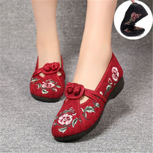 HKJL 2020 spring and summer new ethnic style embroidered shoes women cloth ancient