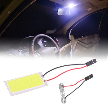 1 Sets Car Dome Panel LED COB 36 Chips 50*20 mm Car panel Reading Roof LED Bulb with T10 ba9s Festoon 3 Adapters 12V Hot Sale image