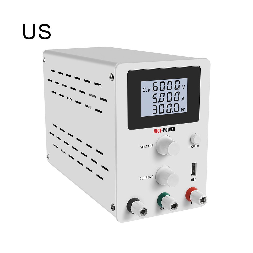 USB DC Laboratory 60V <font><b>5A</b></font> Regulated Lab <font><b>Power</b></font> <font><b>Supply</b></font> <font><b>Adjustable</b></font> <font><b>30V</b></font> 10A Voltage Regulator Stabilizer Switching Bench Source image