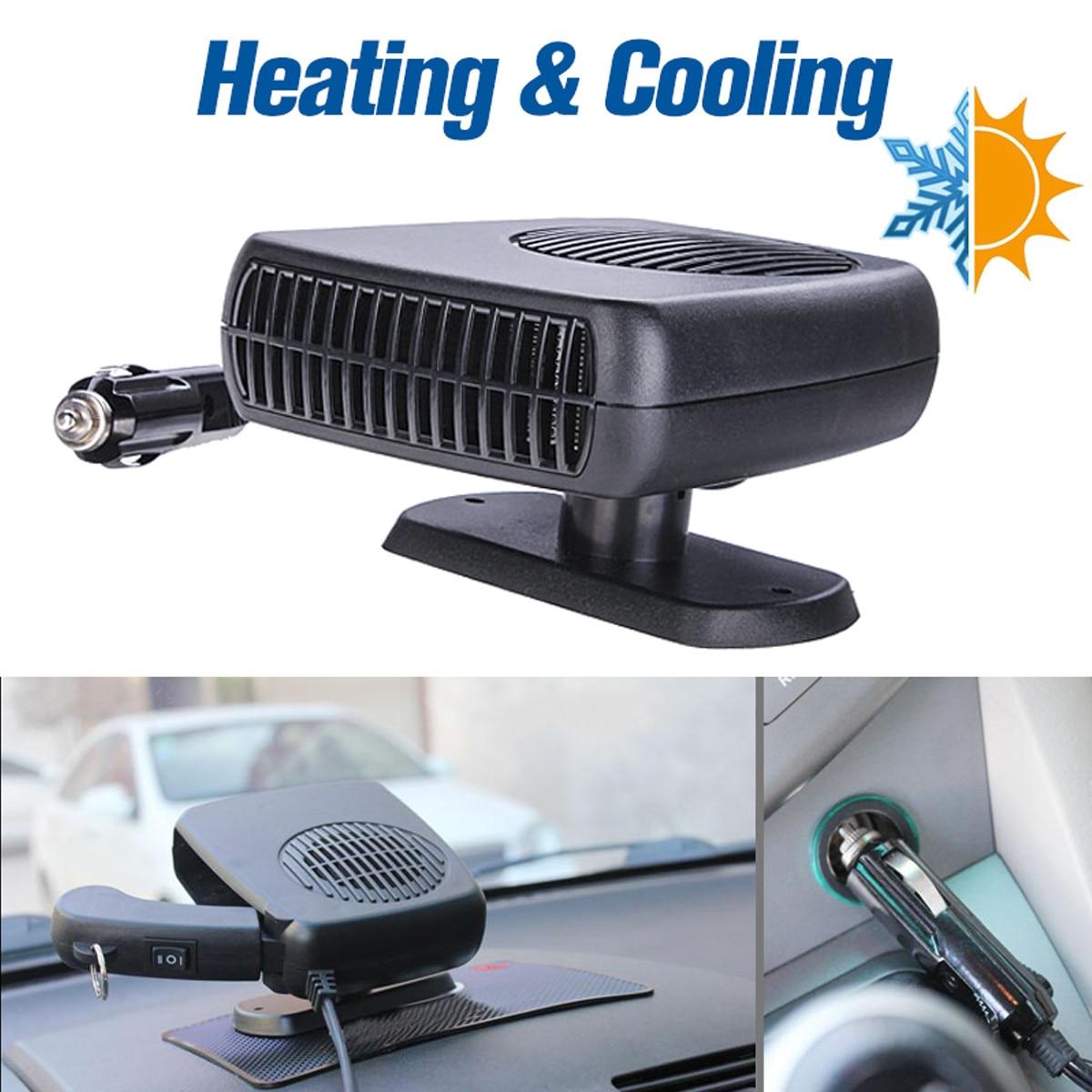 200W 12V Car Heater Auto Van Warm Defroster Cool Fan Windscreen Window  Demister