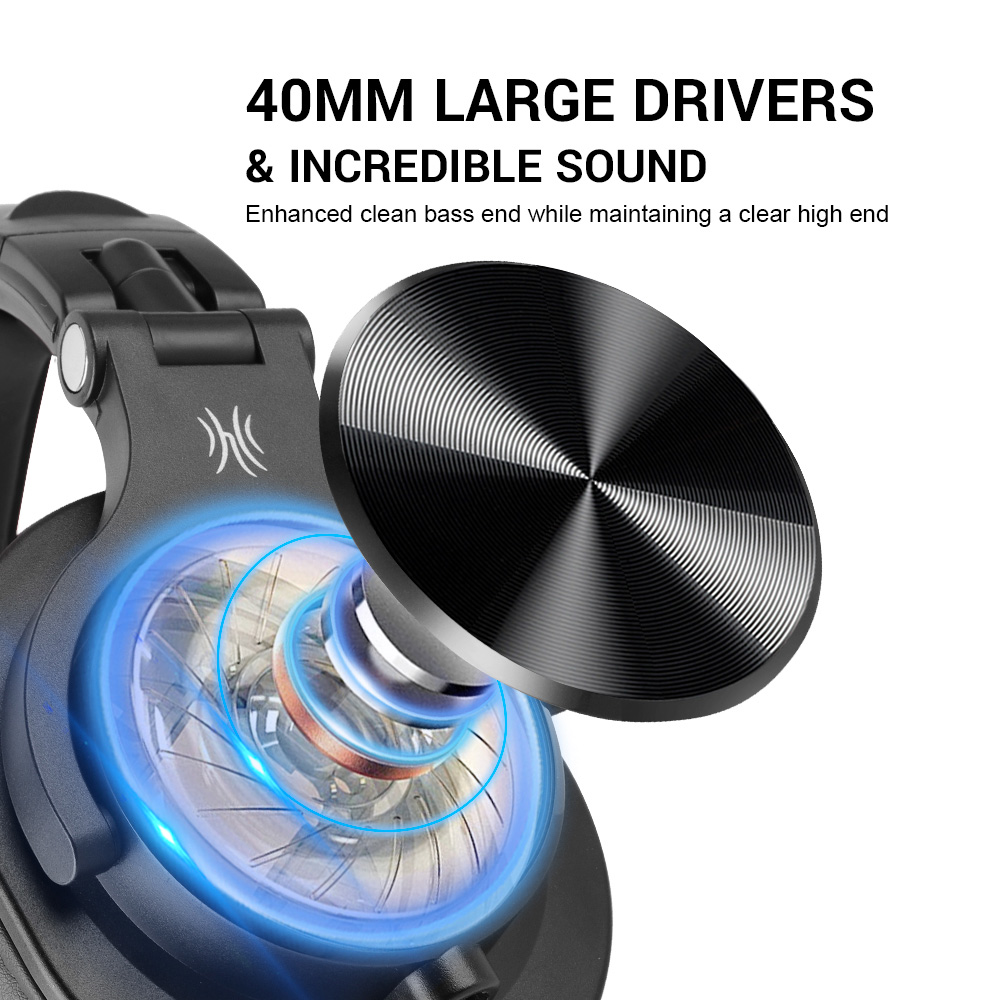 Image 2 - Oneodio A71 Professional DJ Headphones With Microphone Portable Wired Headset Music Share Lock Headphone For  MonitorHeadphone/Headset   -
