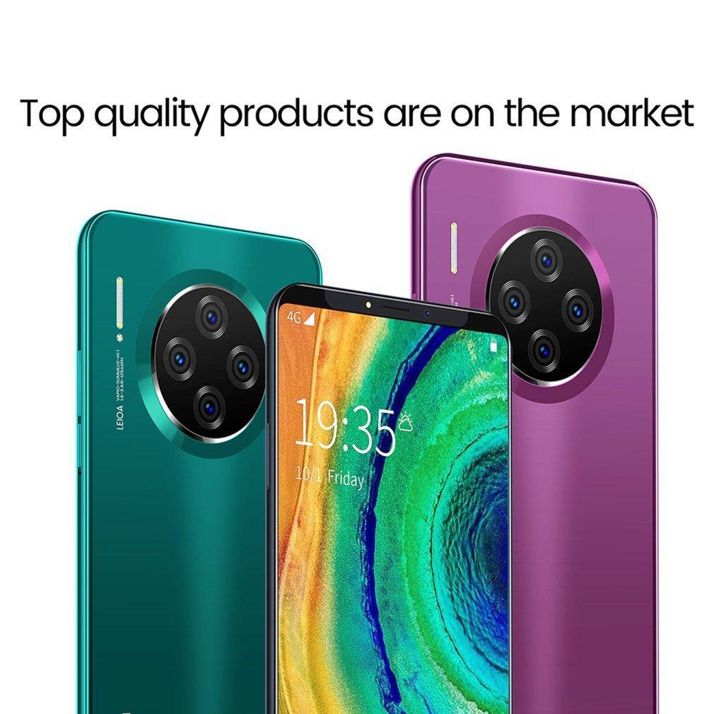 "6.1"" Smartphone for Mate33 Pro Big Screen Android Phone Hd Display Hd Camera Twilight Streamline Fashion Shape Mobile Phone"