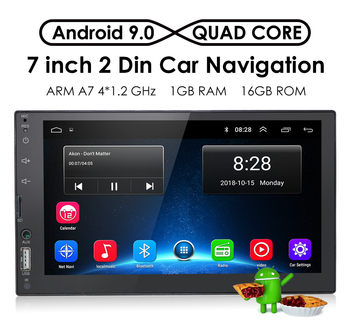 2 Din Car Radio Android 9 GPS Navigation Universal Player 7 Inch Touch Screen Stereo Autoradio Multimedia SWC Russian Language image