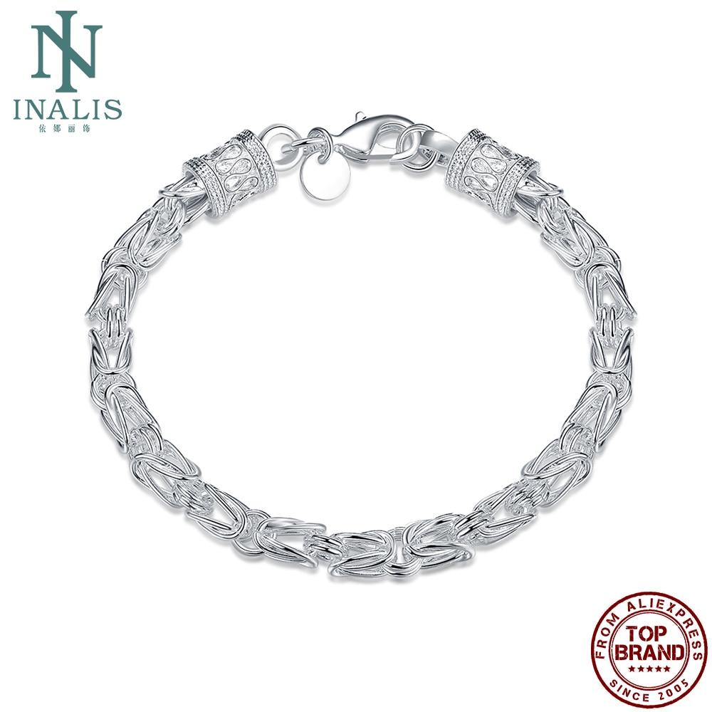 INALIS Fashion Silver Plated Bracelet Creative Men's Bracelet Boutique Classic Romantic Party Fine Jewelry Trend Hot Sale 2021