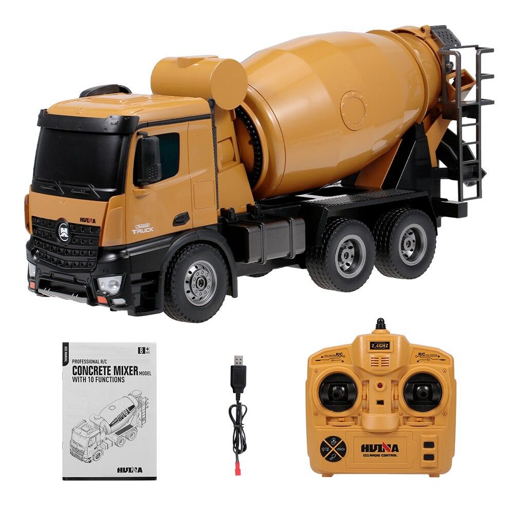 HUINA 1574 1:14 Liga Caminhão do Misturador Concreto Caminhão Engenharia de Controle Remoto Luz Veículo de Construção de Brinquedos para Crianças Presente - 3