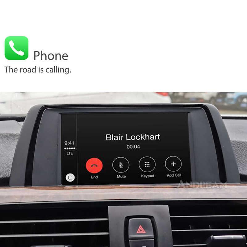 Dla bmw CarPlay bmw bezprzewodowy apple Carplay dla bmw 320 F30 nbt 1234567 seria F3x F10 F11 2013-2017 Android lusterko samochodowe