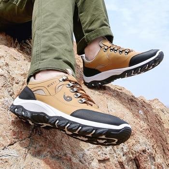 Men Hiking Shoes Trekking Sneakers Man Fishing Camping Shoes Hunting Boots 6