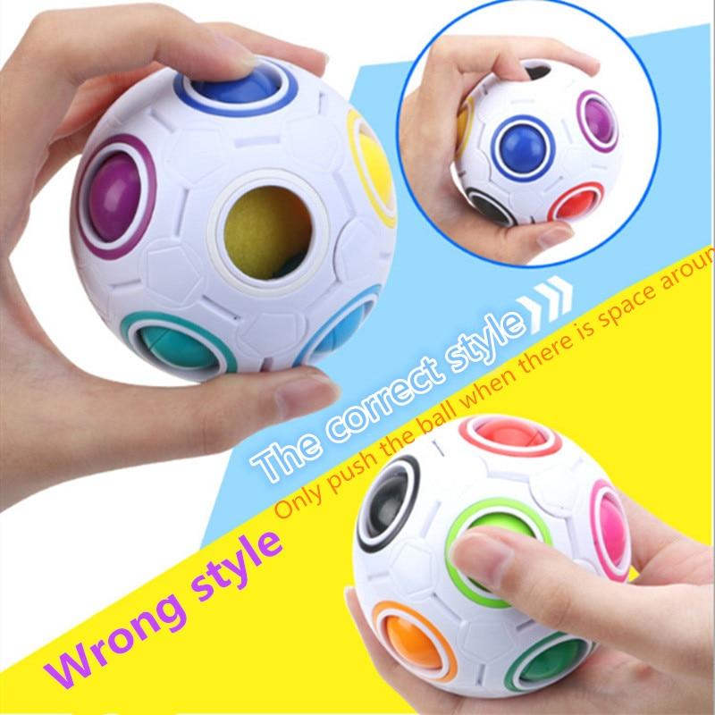 Creative Ball Children's Toys Magic Rainbow Ball Plastic Magic Ball Educational Learning For Children