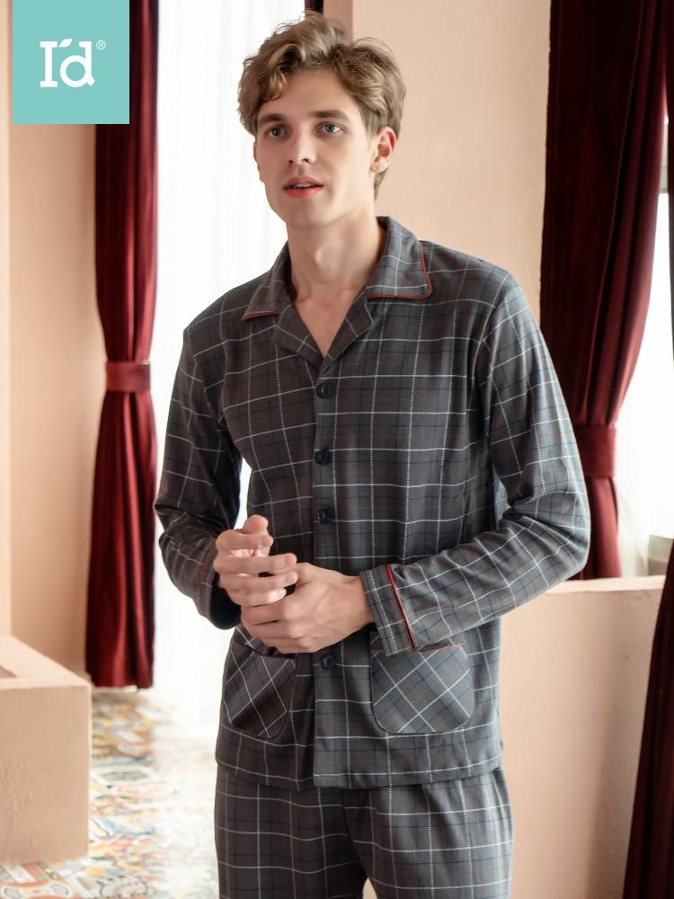Cotton Men's Home Service Suits Men Long Johns Pajamas Set Pajamas For Men Sleepwear Pyjamas Nightclothes