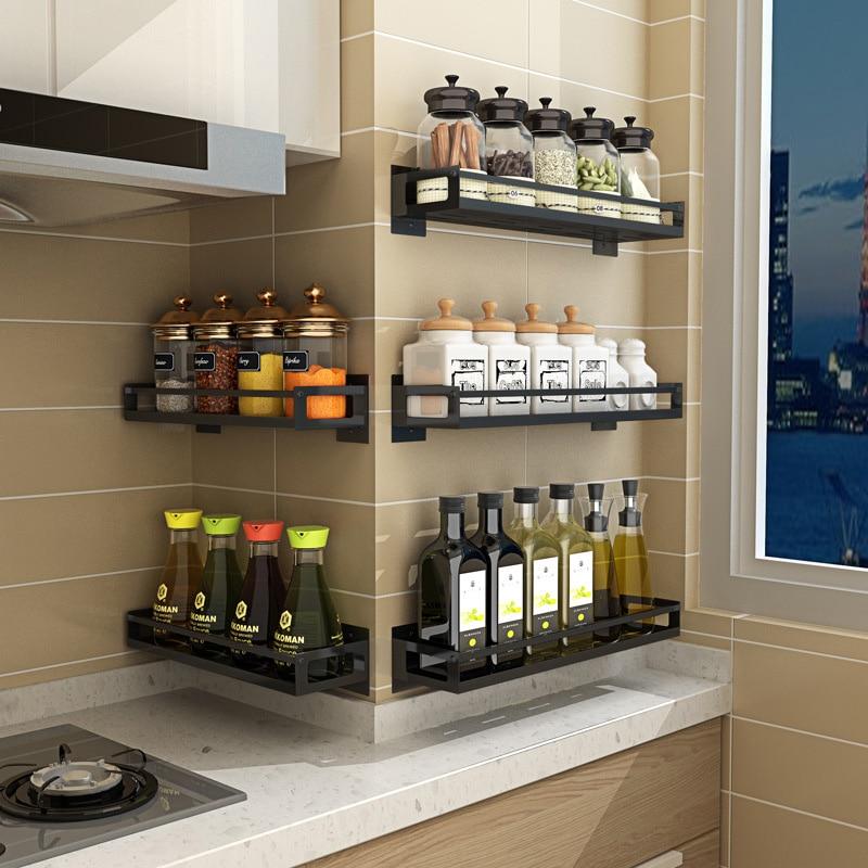 Permalink to Kitchen Products Accessories Wall Mount Kitchen Organizer Storage Shelf For Spice Jar Rack Cabinet Shelves Bracket Holder