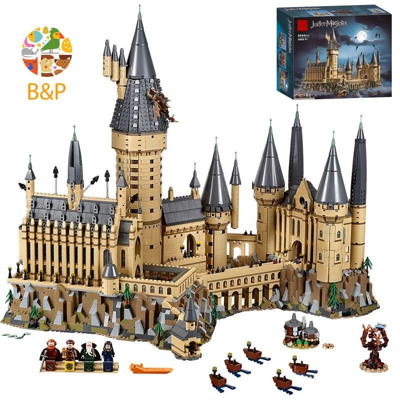 71043, 6742 шт., серия из фильма Поттер, Волшебная модель замка, строительный блок, кирпичи, игрушки для детей, рождественский подарок, совместим с...