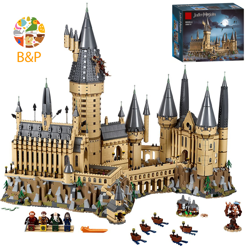 71043 6742Pcs Potter Movie Series Castle Magic Model Building Block Bricks Toys Children Christmas Gift Compatible With 16060