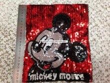 25CM Cartoon Mickey Pailletten Patches Nähen Auf Kleidung Stoff Nähen Kleidung taschen
