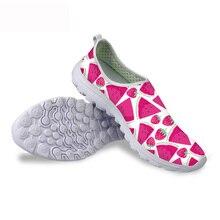 HYCOOL/Женская обувь с принтом арбуза из мультфильма; Женская легкая обувь из сетчатого материала; дышащие женские кроссовки; прогулочная пляжная обувь