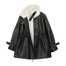 Jacket Motorcycle-Coats Coat Women Faux-Fur Wool Short Suede Female Thick Winter Outerwear