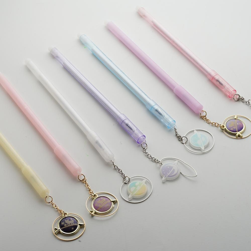 1pcs Kawaii Pendant Gel Pens Cute Cat Pens Novely 0.38mm Neutral Pens For Kids Gift School Office Supplies Stationery