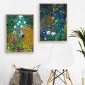 Художественная Картина на холсте с пейзажем Густава Климта боэргаргаргаргарта, настенные картины, ферма, сад с подсолнухами, плакаты и прин...