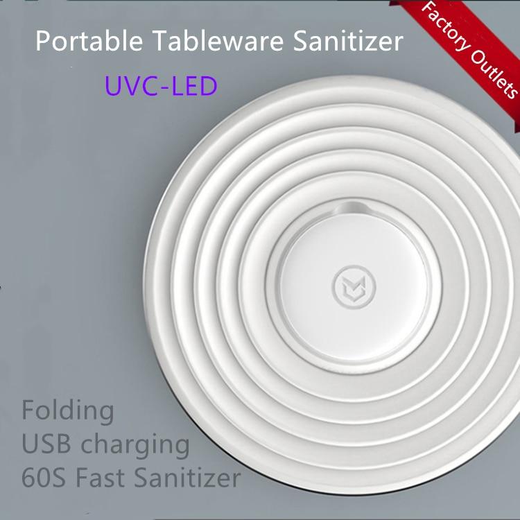 Mahaton Portable Mini Folding Tableware Sanitizer Smart Dinnerware+sets 60S Fast UV Disinfection For Watch Earphone Mobile