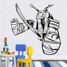 Ninja Turtles Wall Sticker  Superhero Decorations for Kids Boys Room Bedroom wall decal art mural HJ946 полуботинки tm ninja turtles для мальчика