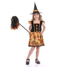 Детский костюм на Хэллоуин для девочек cosply ведьмы тыквы принцессы