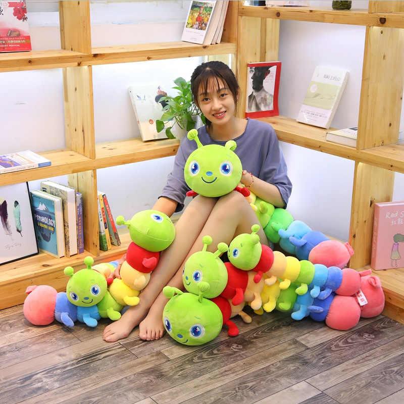 لطيف كاتربيلر ألعاب من القطيفة الشريط وسادة الفتاة بيجامة كبيرة الحجم دمية الأطفال دمية