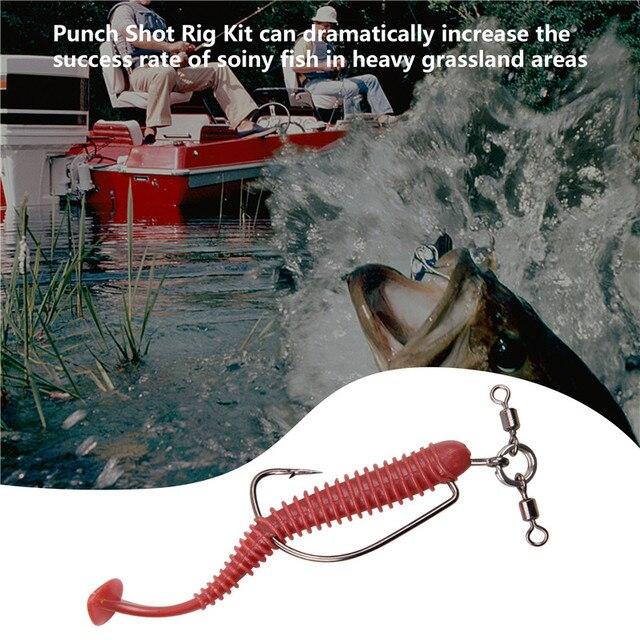 165 шт/кор набор крючков для ловли техасской рыбы мягкая приманка фотография