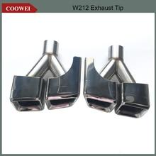 2 teile/satz Edelstahl Material Typ Auspuff Tip Muffler W212 Auspuff Tipp Für Mercede s Benz E63 W212 w204