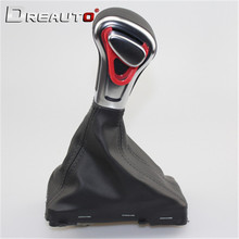Car Leather Chrome GEAR Shift Knob shift knobs FOR AUDI A6 A7 A3 A4 A5 A6 c6 Q7 Q5 2009 2010 2011 2012 2014 4G1 713 139 R цены онлайн