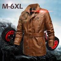 Jaqueta de couro dos homens кожаная куртка мужская jaqueta de couro masculino jaqueta de Couro Outono E Inverno Sólida Longo-manga #3