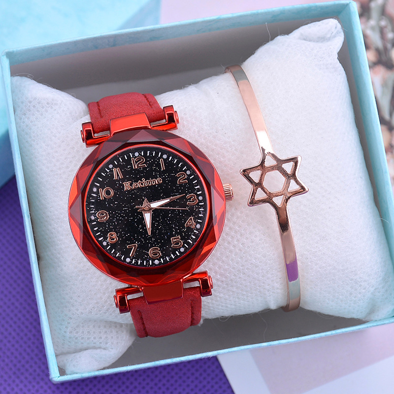 Casual Women Watches Starry Sky Quartz Wristwatch Female Clock Leather Fashion Ladies Wrist Watches reloj mujer relogio feminino 5